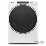 Whirlpool WGD6620HW, 27 Width, Gas Dryer, 7.4 Capacity, 37 Dry Cycles, 5 Temperature Settings, Stackable, Steel Drum, Steam Clean, White colour