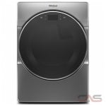 Whirlpool WGD9620HC, 27 Width, Gas Dryer, 7.4 Capacity, 37 Dry Cycles, 5 Temperature Settings, Stackable, Steel Drum, Steam Clean, Wifi Enabled, Chrome Shadow colour