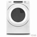 "Whirlpool YWED560LHW Dryer, 27"" Width, Electric Dryer, 7.4 cu. ft. Capacity, 36 Dry Cycles, 4 Temperature Settings, Steel Drum, White colour"