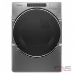 Whirlpool YWED6620HC, 27 Width, Electric Dryer, 7.4 Capacity, 37 Dry Cycles, 5 Temperature Settings, Stackable, Steel Drum, Steam Clean, Chrome Shadow colour