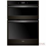 Whirlpool WOC75EC7HV Microwave Wall Oven, 27 Exterior Width, Self Clean, Convection, 5.7 cu. ft. Capacity, Wifi Enabled, Black Stainless Steel colour