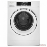 Whirlpool WFW5090JW Front Load Washer, 24 Width, 2.6 Capacity, 10 Wash Cycles, 6 Temperature Settings, Stackable, Water Heater, 1200 Washer Spin Speed, ENERGY STAR Certified, White colour