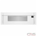 Whirlpool YWML55011HW Over the Range Microwave, 30 Exterior Width, 1000 Watts, 1.1 Capacity, Halogen, 400 CFM, White colour