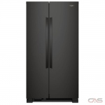Whirlpool WRS312SNHB Side by Side Refrigerator, 33 Width, Optional Ice Maker (Special Order), 21.7 Capacity, LED Lighting, Black colour