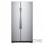 Whirlpool WRS312SNHM Side by Side Refrigerator, 33 Width, Optional Ice Maker (Special Order), 21.7 Capacity, LED Lighting, Stainless Steel colour