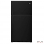 Whirlpool WRT541SZDB Top Mount Refrigerator, 33 Width, Optional Ice Maker (Special Order), 21.3 cu. ft. Capacity, LED Lighting, Black colour