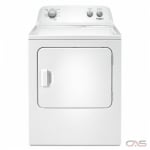 Whirlpool YWED4850HW, 29 Width, Electric Dryer, 7.0 Capacity, 12 Dry Cycles, 3 Temperature Settings, Steel Drum, White colour