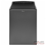 Whirlpool WTW7500GC Top Load Washer, 27 1/2'' Width, Energy Efficient, 5.5 Cu. Ft. Capacity, 2 Wash Cycles, 5 Temperature Settings, 850 Washer Spin Speeds (RPM)
