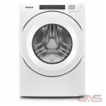 Whirlpool WFW560CHW Front Load Washer, 27 Width, Energy Efficient, 5.0 Capacity, 37 Wash Cycles, 4 Temperature Settings, Stackable, 1200 Washer Spin Speed, White colour