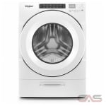 Whirlpool WFW5620HW Front Load Washer, Energy Efficient, 5.2 Cu. Ft. Capacity, Stackable, 1200 Washer Spin Speeds (RPM), Steam Clean