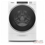 "Whirlpool WFW6620HW Front Load Washer, 27"" Width, 5.2 cu. ft. Capacity, 37 Wash Cycles, 5 Temperature Settings, Stackable, Water Heater, 1200 RPM Washer Spin Speed, Steam Clean, ENERGY STAR Certified, White colour"