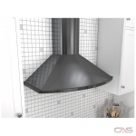 Zephyr ZSAM90DBS Range Hood, 36 Exterior Width, Chimney, Accepts Both, LED, 685 CFM, Wall Mounted, Dishwasher Safe Filters, Aluminum Mesh, Black Stainless Steel colour