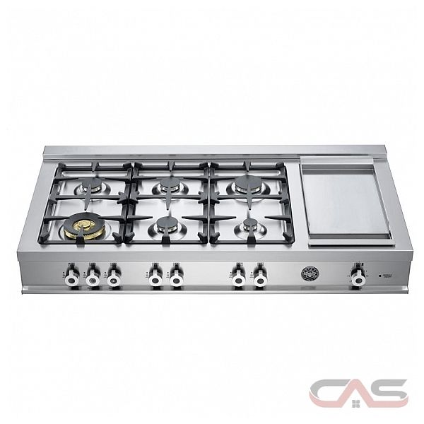 bertazzoni cb486g00x rangetop gas cooktop 48 inch 6 burners
