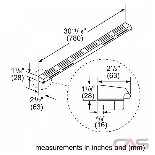 hdzit301 bosch ascenta series range accessory canada