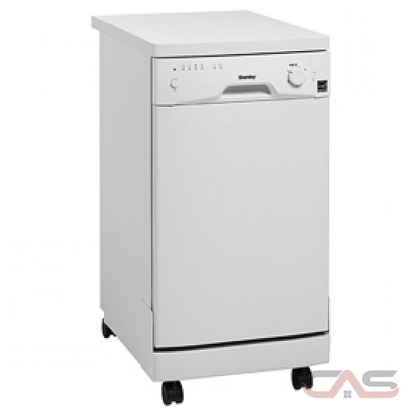 Danby DDW1899WP Full Console Portable Dishwasher with 5 Wash Cycles, 8 Place Setting Capacity, Built-in Castors and Energy Star Compliant