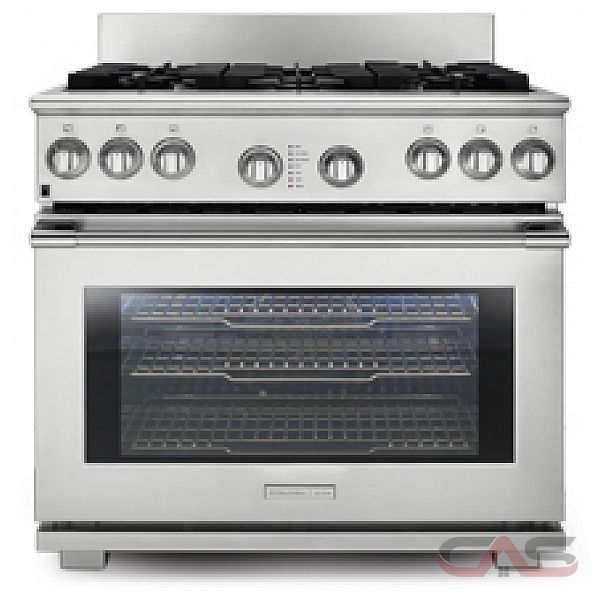Electrolux Icon E36DF7CGPS Freestanding Duel Fuel Range, 36 in, 6.4 cu.ft, with 6 Sealed Burners, Convection Oven, Smooth-Glide Oven Racks and 6 inch Stainless Steel Backsplash