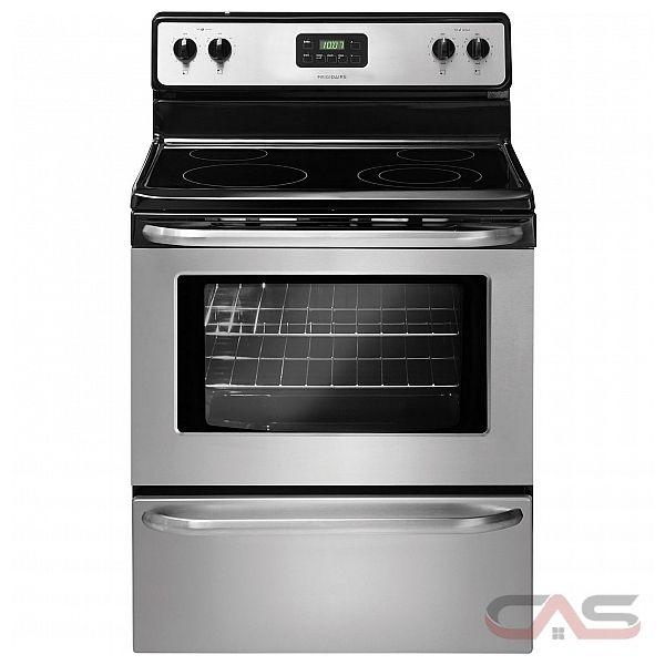 frigidaire cfef3043rs cuisini re cuisini re lectrique 30 po 4 nombre de br leurs br leurs. Black Bedroom Furniture Sets. Home Design Ideas