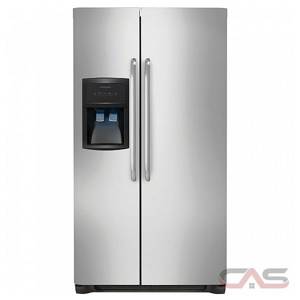 Frigidaire FFHS2322MS Side by Side Refrigerator, 33 in, 22.6 cu.ft, with SpillSafe Glass Shelves, Gallon Door Bins, Humidity-Controlled Crisper and External Ice/Water Dispenser