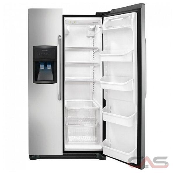 frigidaire ffhs2322ms r frig rateur c te c te frigo 33 po distributeur dans la porte. Black Bedroom Furniture Sets. Home Design Ideas
