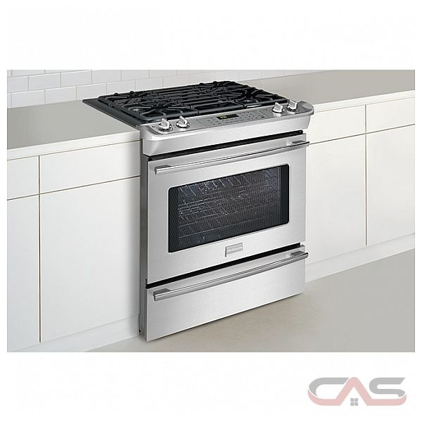 Professional fpgs3085pf 30in slide in self clean convection gas range