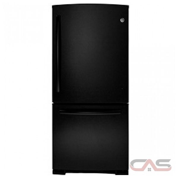 GE GBR20DTERBB Bottom Mount Refrigerator, 20 cu.ft., FrostGuard Technology, Optional Icemaker IM6, NeverClean Condenser, Upfront Temp Control, Energy Star Qualified