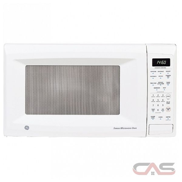 GE JE1460WF Countertop Family-Size Microwave Oven, Auto & Time Defrost ...