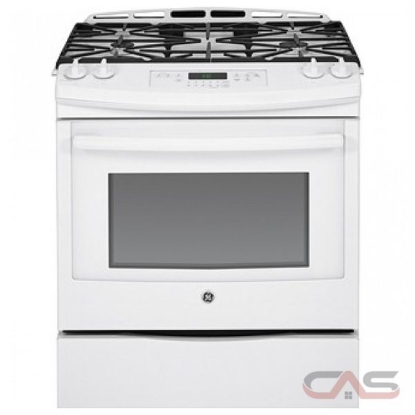 GE JCGS650DEFWW Slide in Gas Range, 30 in, 5.4 cu.ft., Precise Simmer Burner, True Temp TM System, Certified Sabbath Mode, Upfront Controls