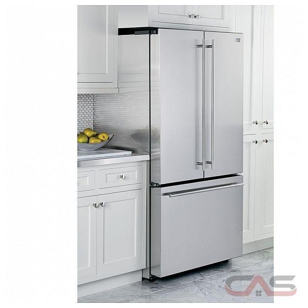 R frig rateur porte fran aise monogram zwe23eshss frigo - Refrigerateur distributeur de glacon 1 porte ...