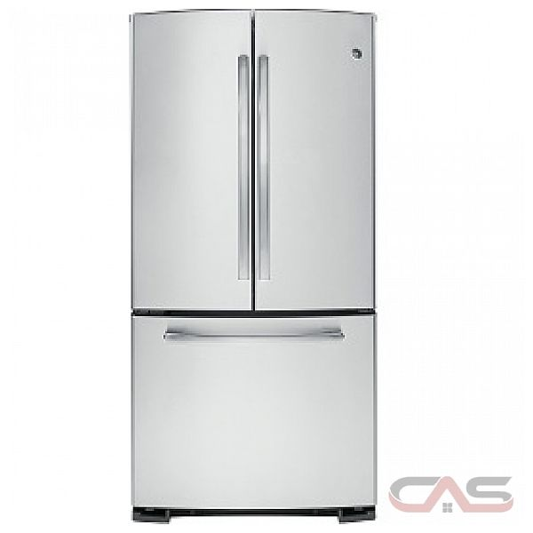 GE GNR22DSEFBS Bottom Mount French Door Refrigerator, 22.1 cu.ft., FrostGuard TM technology, NeverClean TM Condenser, Humidity-Controlled Drawers, Energy Star Qualified