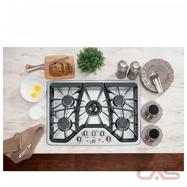 GE Cafe CGP350SETSS Cooktop, Gas Cooktop, 30 inch, 5 Burners, Stainless Steel, Stainless Steel colour