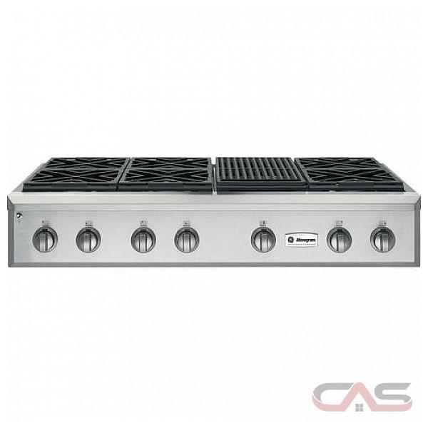 ge monogram zgu486nrpss rangetop gas cooktop 48 inch 48 inch