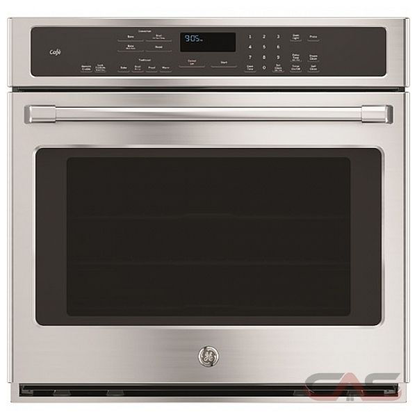 ft Total Capacity Electric Single Wall Oven with 2 Oven Racks Ge Cafe CTS70DP2NS1 Minimal Series 30 Inch Smart 5 cu
