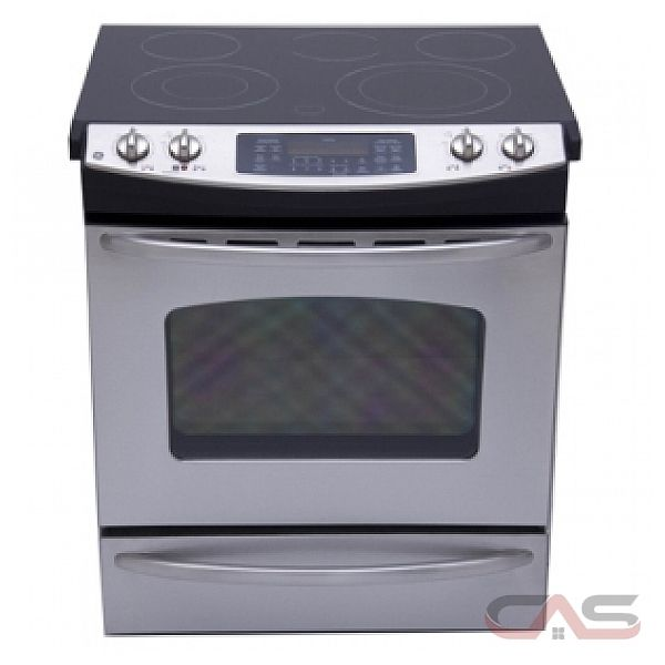 GE JCSP42SRSS Slide-In Electric Range, 30in, 5.2 cu.ft, with Ceramic Glass Cooktop, True Temp System, PowerBoil Element, Hidden Bake Oven Interior and Electronic Oven Controls
