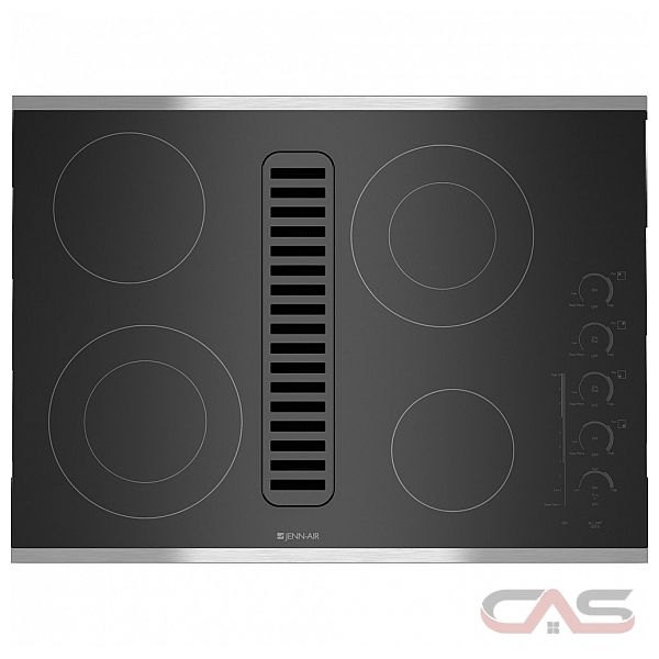 Jenn-Air JED4430WS Cooktop, Electric Cooktop, 30 inch, 4 Burners, Glass Ceramic, Stainless Steel colour