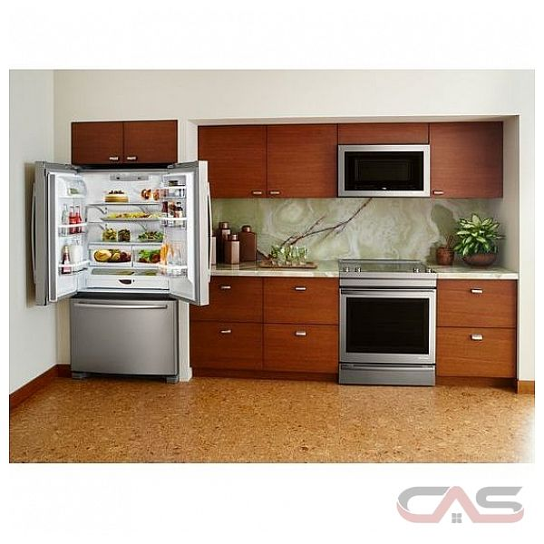 "Jenn Air Counter Depth Refrigerator French Door: Jenn-Air JFC2089BEM French Door Refrigerator, 36"" Width"