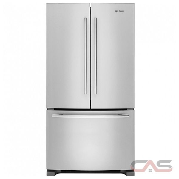 Jenn air jfc2089bem french door refrigerator 36 width freezer located ice dispenser energy for Interior water dispenser refrigerator