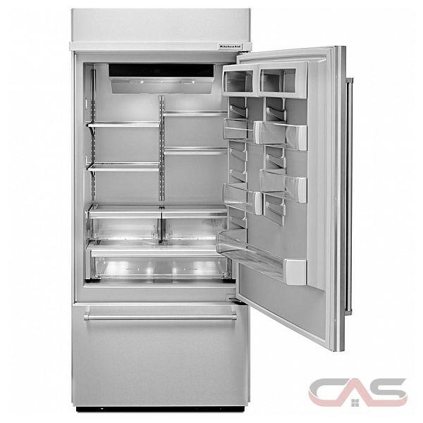 kitchenaid kbbr306ess bottom mount refrigerator 36 width freezer