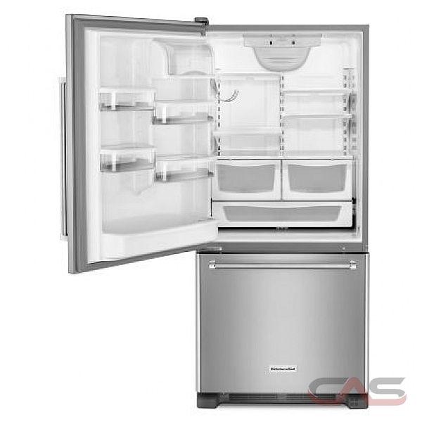 kitchenaid krbl109ess bottom mount refrigerator 30 width optional