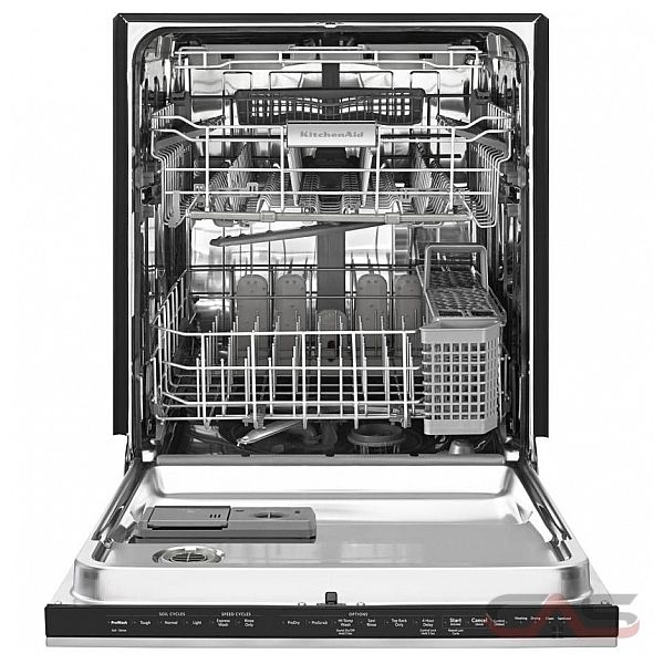 Shop Kitchenaid Architect Ii 24 In Black Stainless Steel: KDHE704DSS KitchenAid Dishwasher Canada
