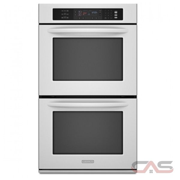 kitchen aid kebs278swh double wall oven 27in 7 6 cu ft