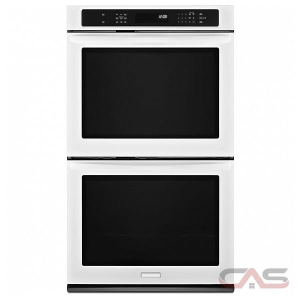 kitchen aid kebs279bwh double wall oven 27 in 7 6 cu ft