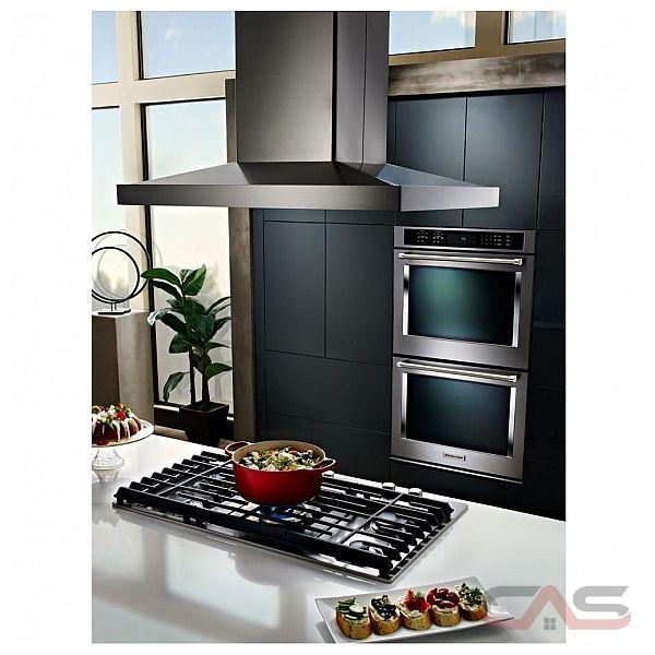 hotte kitchenaid kvib606dss 36 largeur ext rieure chemin e convient aux deux del 600 cfm. Black Bedroom Furniture Sets. Home Design Ideas