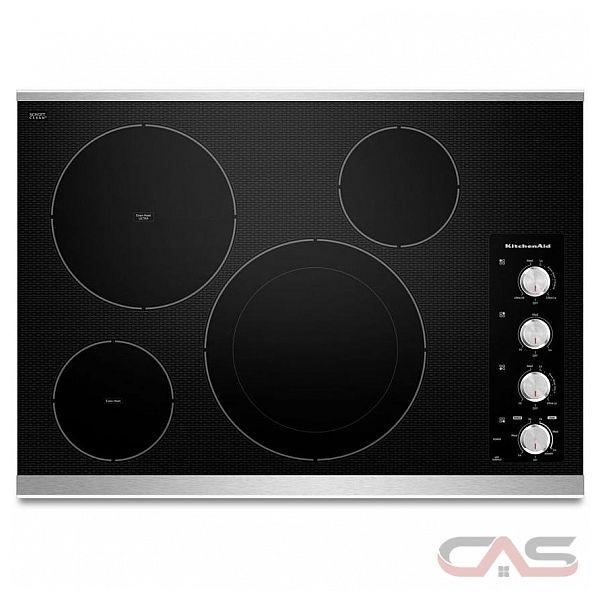 Kitchenaid Electric Cooktop ~ Kitchenaid kecc bss cooktop canada best price reviews