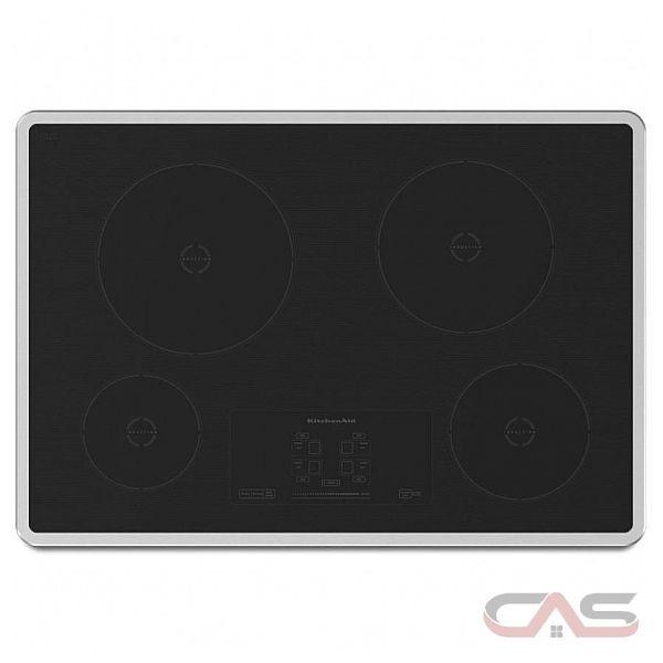Surface de cuisson kitchenaid kicu500xbl surface de cuisson induction 30 po 4 nombre de - Difference induction vitroceramique ...
