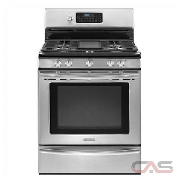 Kitchen Aid KGRS208XSS Freestanding Gas Range 30in 5 1