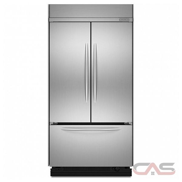 kitchen aid kbfc42fts built in french door refrigerator
