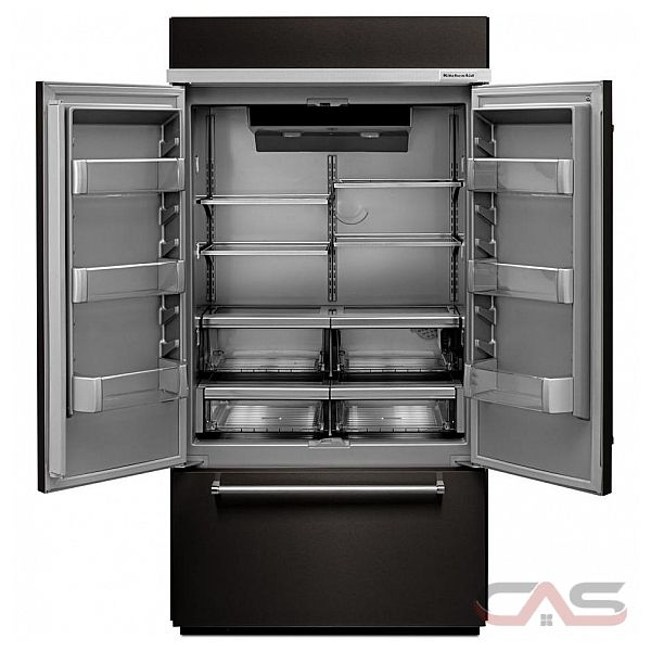 Kitchenaid Black Stainless Steel Counter Depth French Door: KitchenAid KBFN502EBS Refrigerator Canada