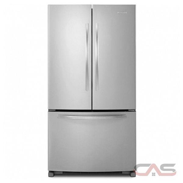 kitchenaid kbfs20ecms french door bottom mount refrigerator 19 9 cu