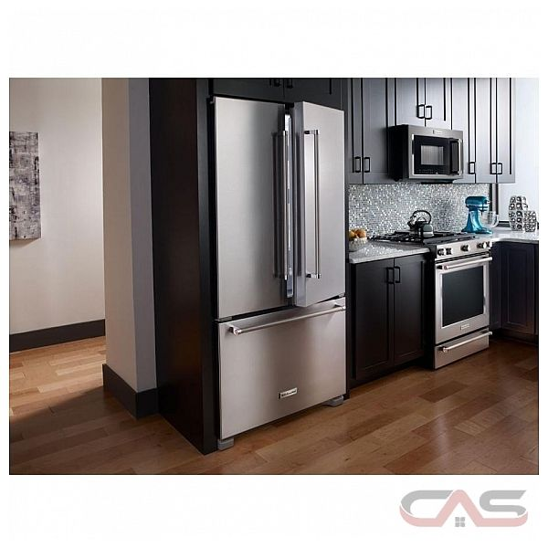 Kfcs22evms 21 8 cu ft counter depth french door refrigerator