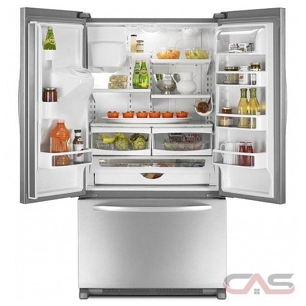KitchenAid KFIS20XVWH Counter-Depth French Door Refrigerator, 36in ...